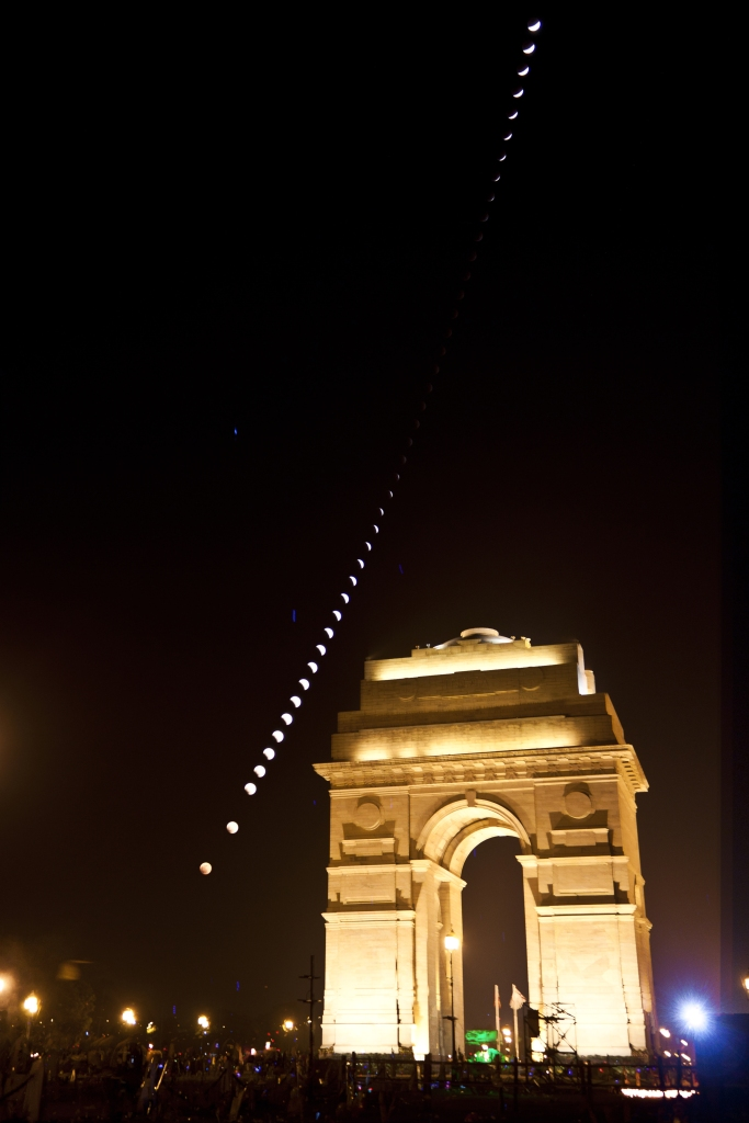 Eclipse from India gate