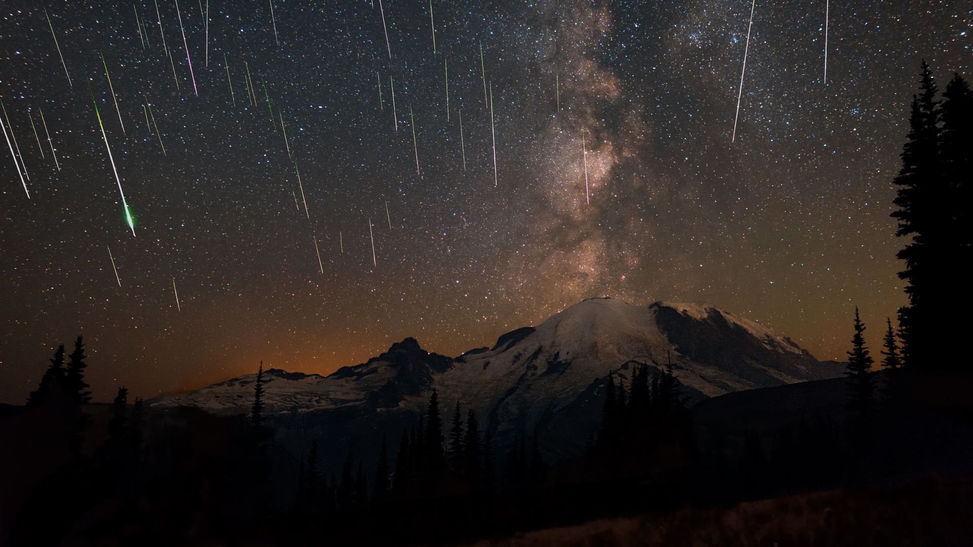 2015STE - Mount Rainier NP - Matthew Dieterich - Perseids 2015