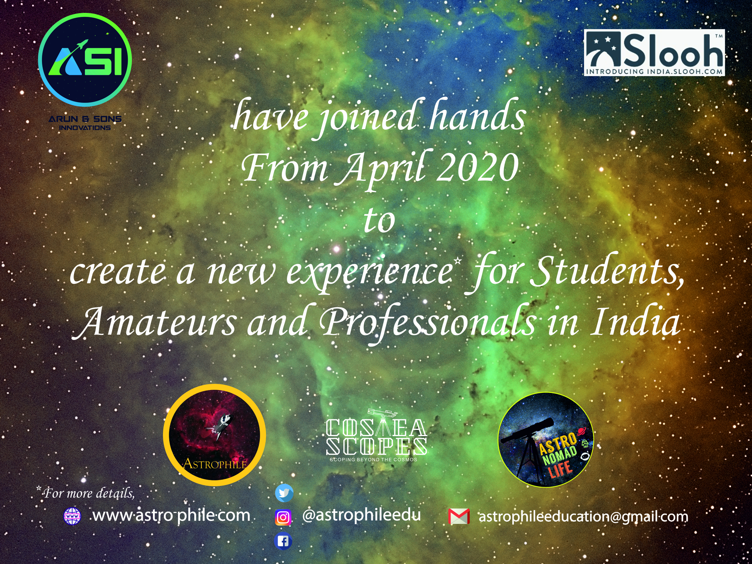 Slooh ASI collaboration Announcement